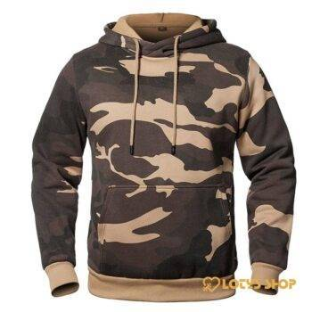 Men's Camouflage Hooded Sweatshirt Outdoor Sports color: Army Green|Black|Camo|Green|Khaki