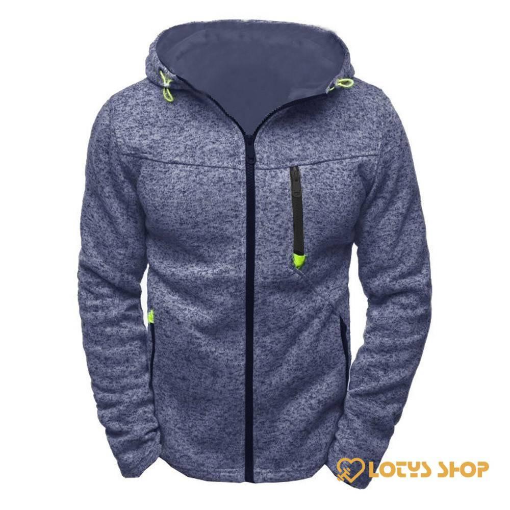 Men's Long Sleeve Sports Hoodie Outdoor Sports color: Black|Blue|Gray
