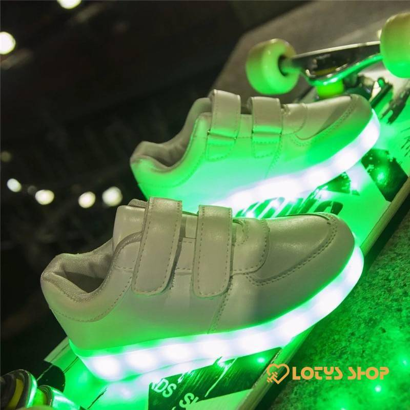 Sneakers With USB Lights Kids sport items Sport items color: Black|Black and White|deep blue|Gold|Graffiti|Green|Kid Black|Kid Deep Blue|Kid Gold|Kid Pink BLue|Kid Pink Red|Kid Silver|Kid White|Silver|White