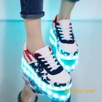 Sneakers With USB Lights Kids sport items Sport items color: FDH101 DeepBlue Shoe Size: 12