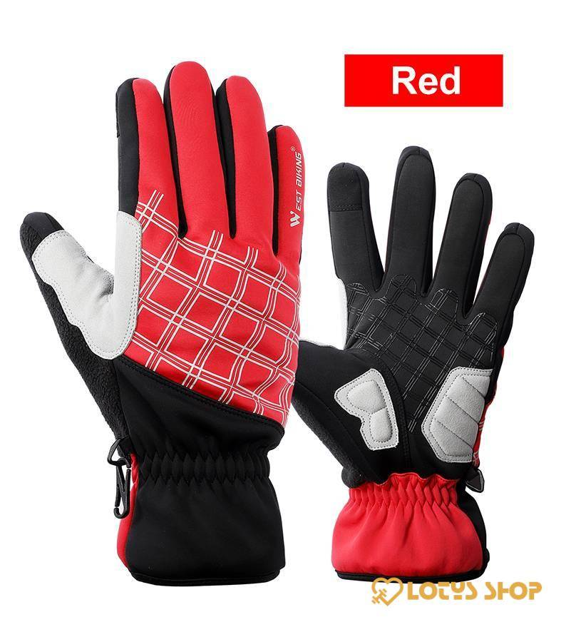 Touch-Screen Thermal Winter Sports Gloves Outdoor Sports color: Blue|Grey|Red