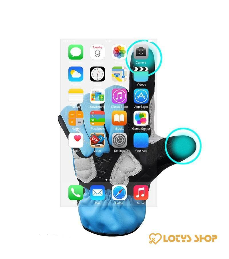 Touch-Screen Thermal Winter Sports Gloves