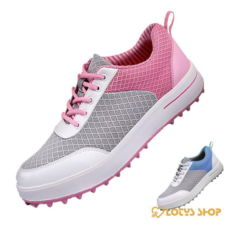 Women's Waterproof Professional Golf Shoes Sport items Women Sport Shoes Women's sport items color: Blue|Pink
