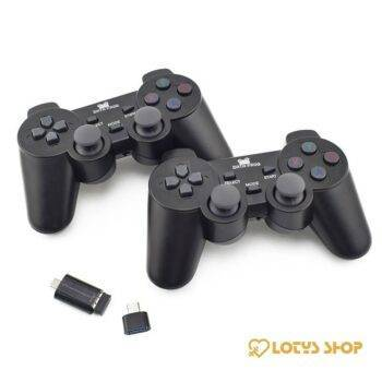 Dual 2.4G Wireless Game Controller Set 2 Pcs Gaming & Entertainment color: with Micro USB|with Type C