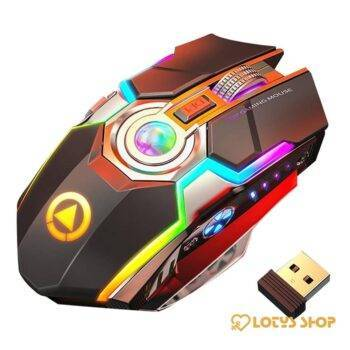 Rechargeable Wireless Gaming Mouse with RGB Backlight Gaming & Entertainment color: Black|Gray
