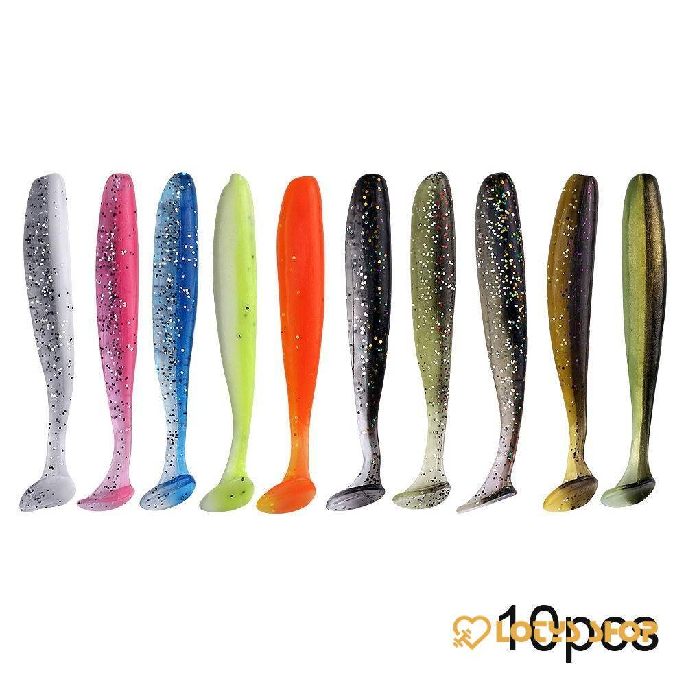Soft Silicone Worm Lures Set