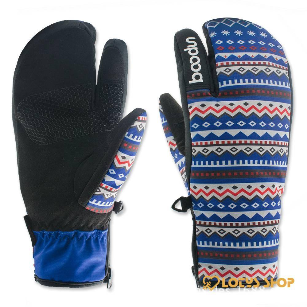 Women's Cute Colorful Snowboard Warm Gloves Gloves Outdoor Sports color: Blue|Red|White