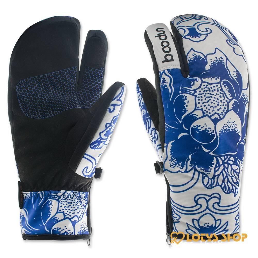 Women's Cute Colorful Snowboard Warm Gloves Gloves Outdoor Sports color: Blue Red White