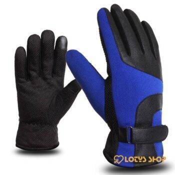 Men's Thermal Outdoor Winter Sports Gloves Gloves Outdoor Sports Snow Sports color: Black|Blue|Brown|Gray|Red
