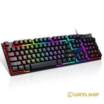 USB Wired Gaming Keyboard Mechanical Feeling Gaming & Entertainment Gaming Keyboards color: Red