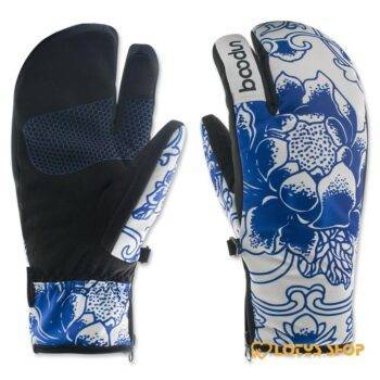 Women's Cute Colorful Snowboard Warm Gloves Gloves Outdoor Sports Snow Sports color: White size: M