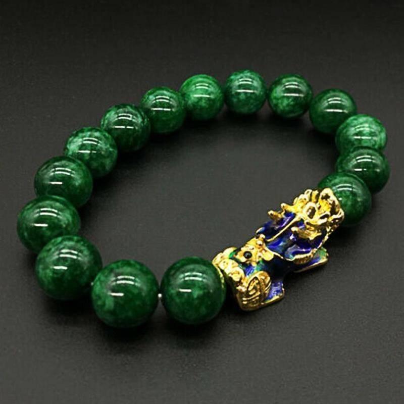Unisex Feng Shui Style Green Beads Bracelet Accessories Jewelry Men's Bracelets Women's Bracelets 019ec3132cdf8ee0f2e2a7: for Men|for Women