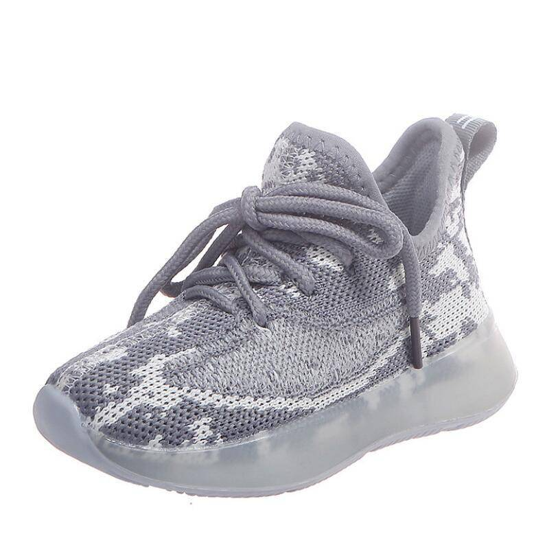 Unisex Spring Breathable Sports Sneakers Kids sport items Kids Sport Shoes Sport items color: Black|Grey|Pink
